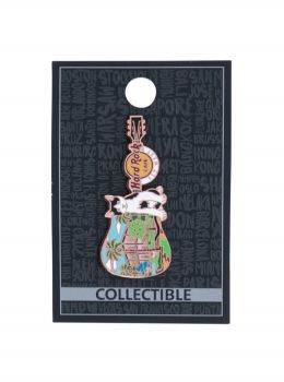 Key West Cat Guitar Pin