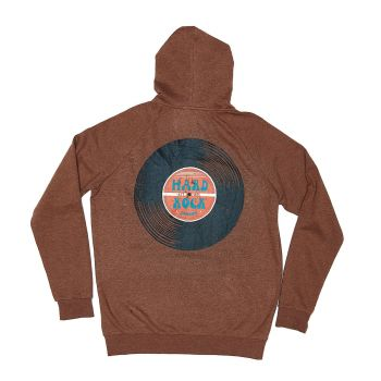 Heritage Men's Retro Record Zip Up Hoodie