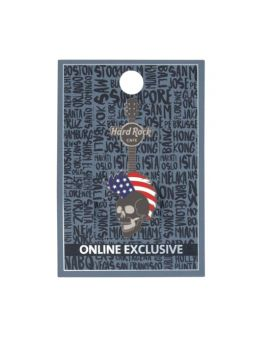 USA 3D Mohawk Skull Pin