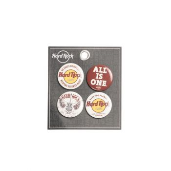 Hard Rock Café Button Set