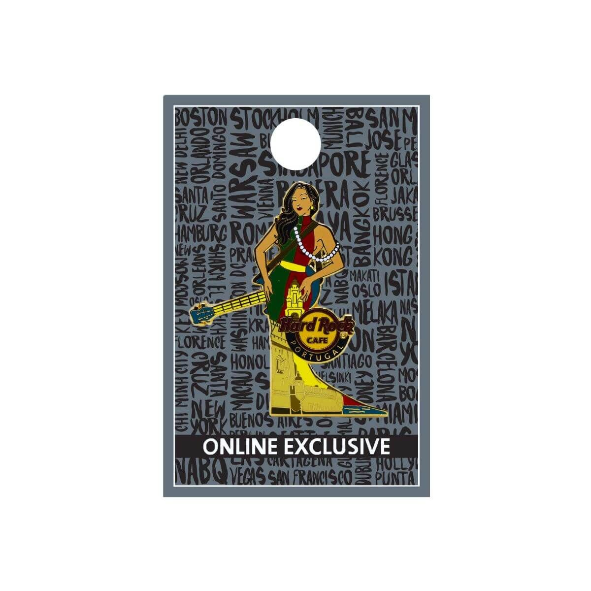 Portugal Cityscape Gown Pin