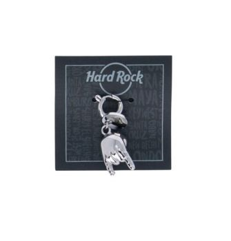 Rock Hands Silver Charm