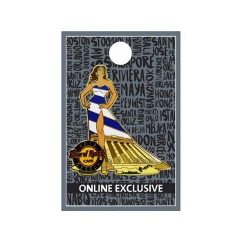 Greece Cityscape Gown Pin