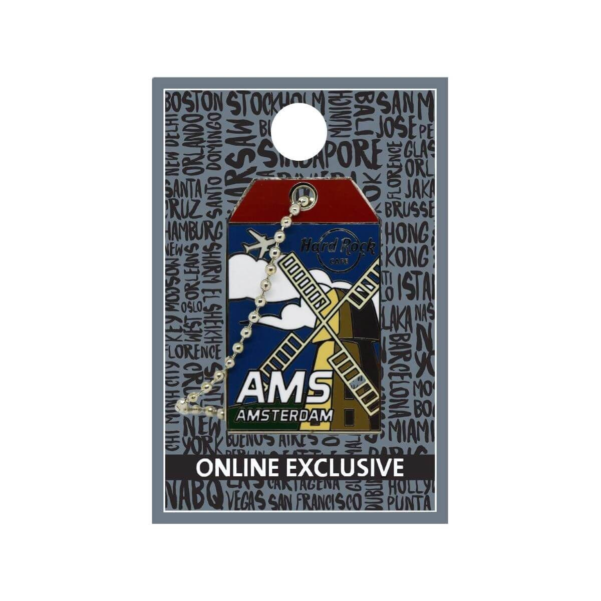 Amsterdam Luggage Tag Pin