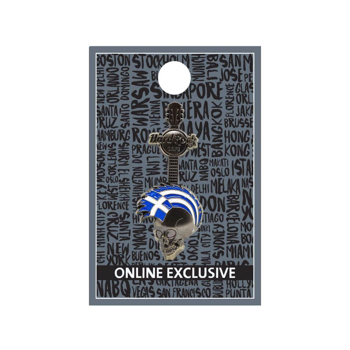 Greece 3D Mohawk Skull Pin