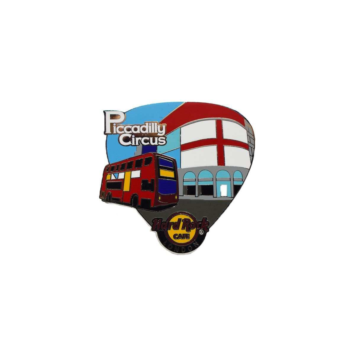 London Core Piccadilly Bus Guitar Pick Pin