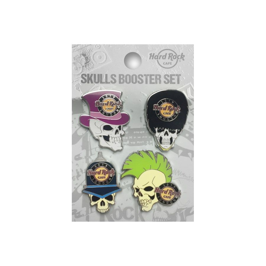 London Skull Pin Set