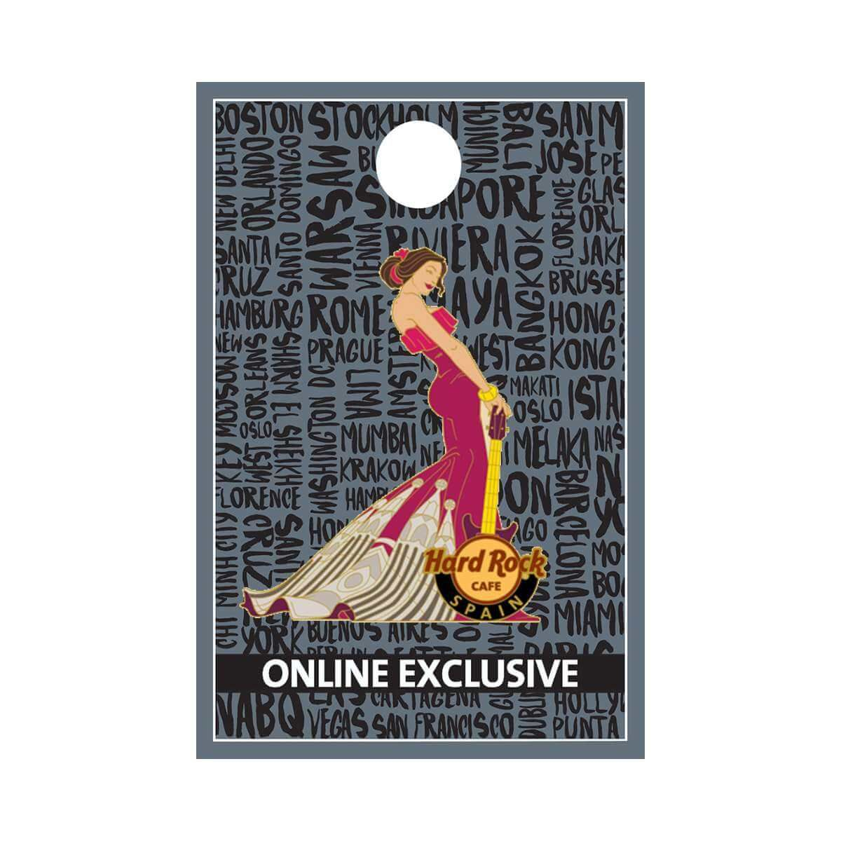 Spain Cityscape Gown Pin