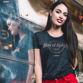 Women's Classic Metallic Logo Burnout Tee