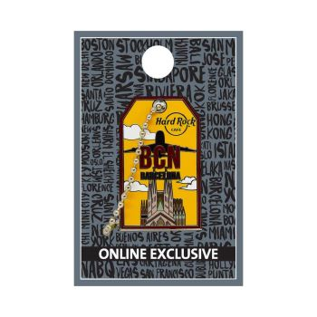 Barcelona Luggage Tag Pin