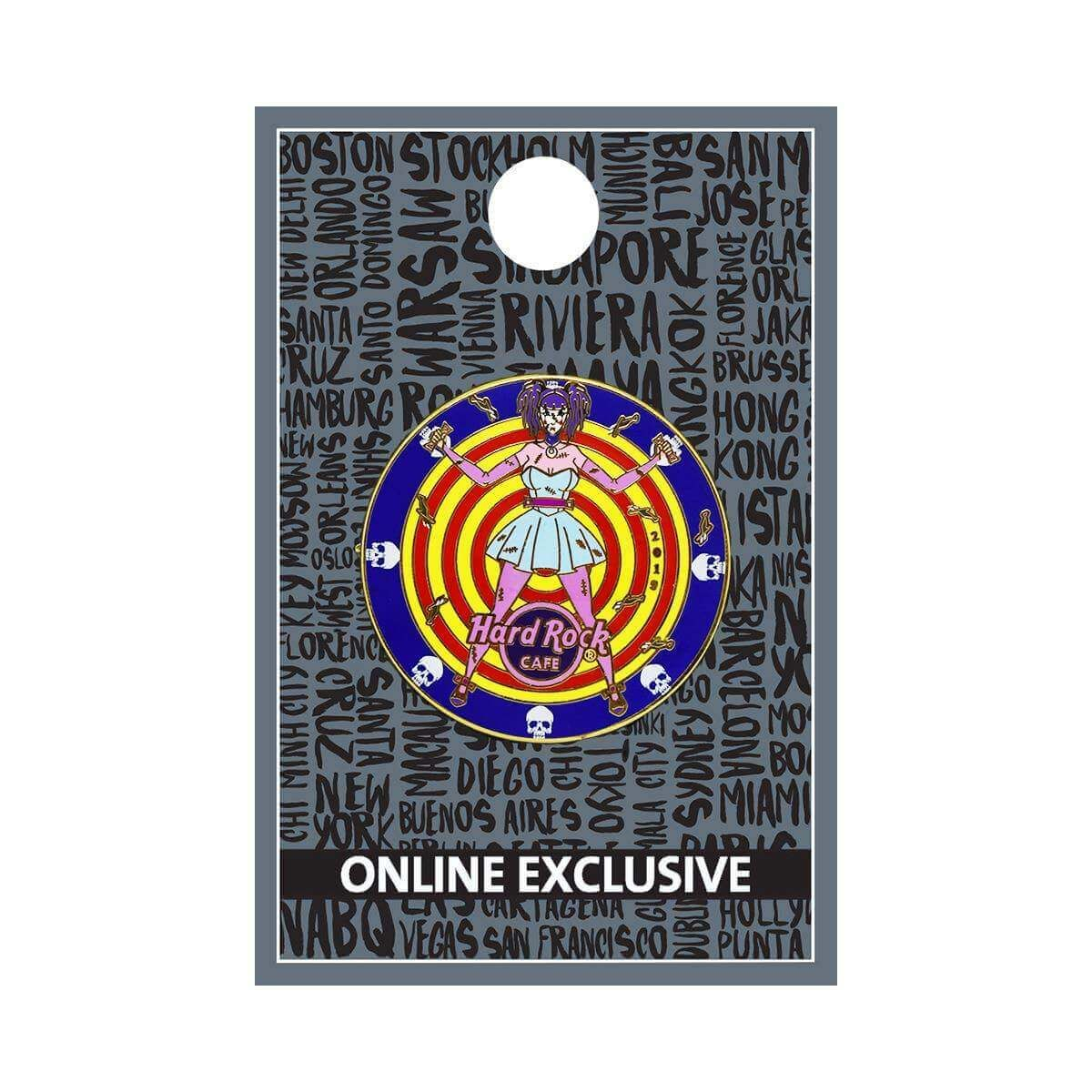 Twisted Circus Wheel of Death Pin
