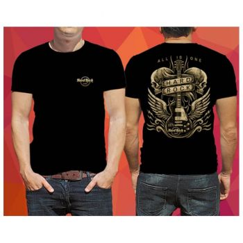 Men's Black Skull Wings Tee