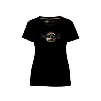 Gold Foil Studded Scoop Neck Tee