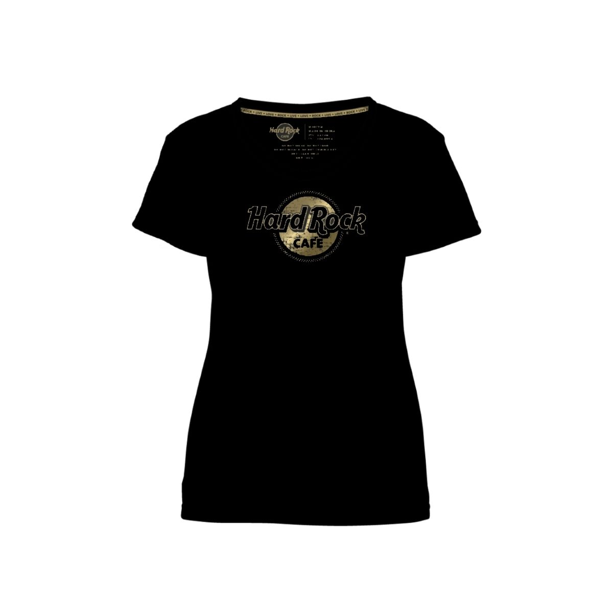 Women's Gold Foil Studded Scoop Neck Tee