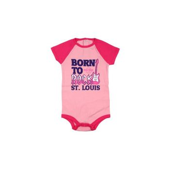 Girls Infant Color block Raglan Onesie