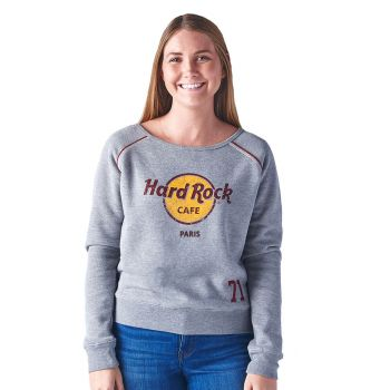 Women's Classic Logo Piped Raglan Crew Fleece
