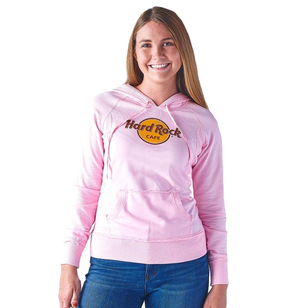 Women's Pink FrenchTerry Logo Hoodie