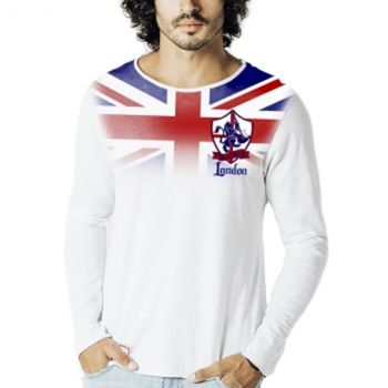 Men's Union Jack Long Sleeve Football Tee