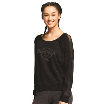Women's Studded Logo Chiffon Tee