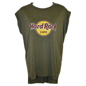 Women's High Low Olive Boyfriend Tee