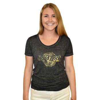 Women's Crush Foil Logo Scoop Tee