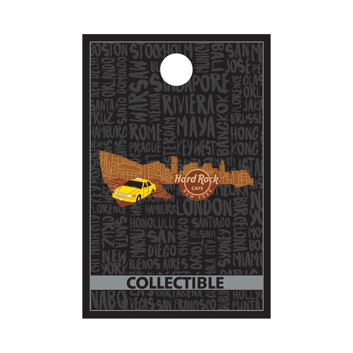 Core Skyline Guitar NYC Pin