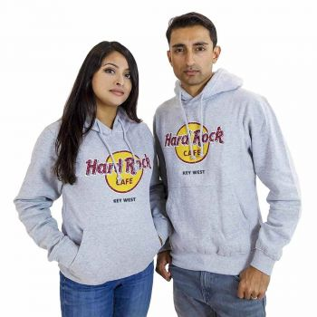 Unisex Classic Logo Pullover Hoodie Grey