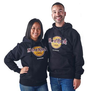 Classic Logo Pullover Hoodie Black