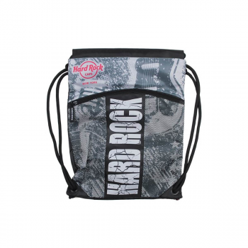 Printed Drawstring Backpack
