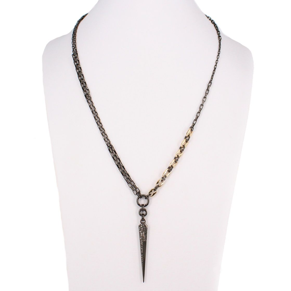 Single Spike Y Necklace