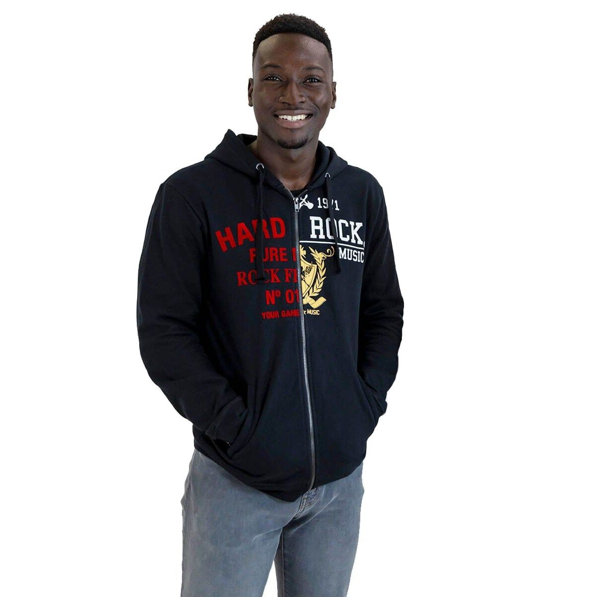 Men's Split Design Full Zip Hoodie