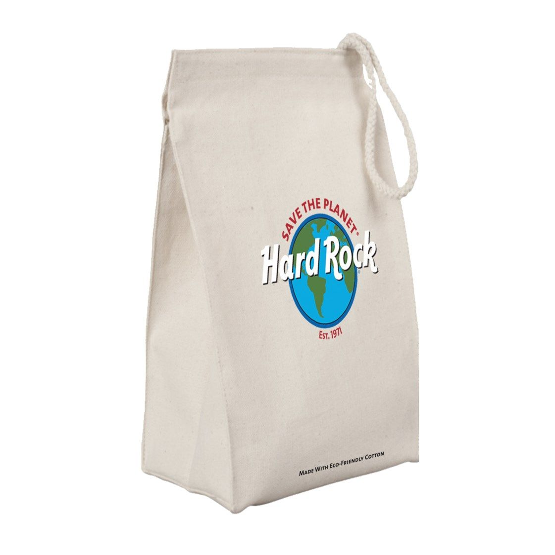 Save the Planet Canvas Lunch Sack