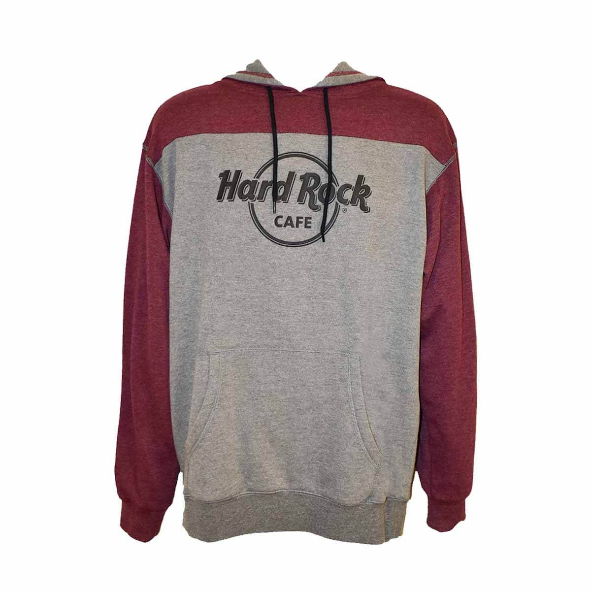 Men's Logo Fleece Hoodie Burgundy/Grey
