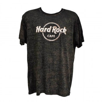 Men's Black Logo Burnout Tee