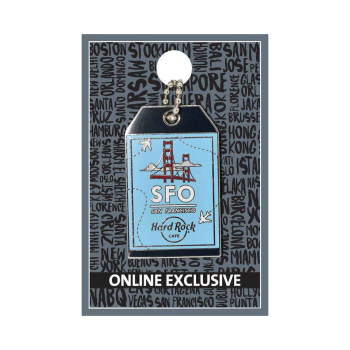 San Francisco Luggage Tag Pin