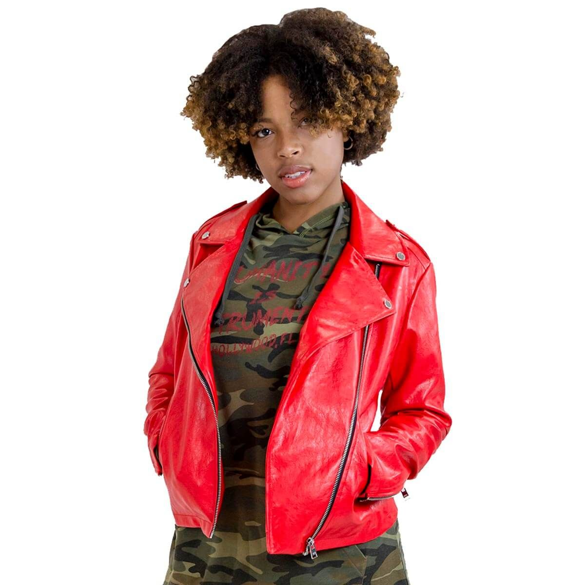 Women's Humanity Faux Leather Jacket