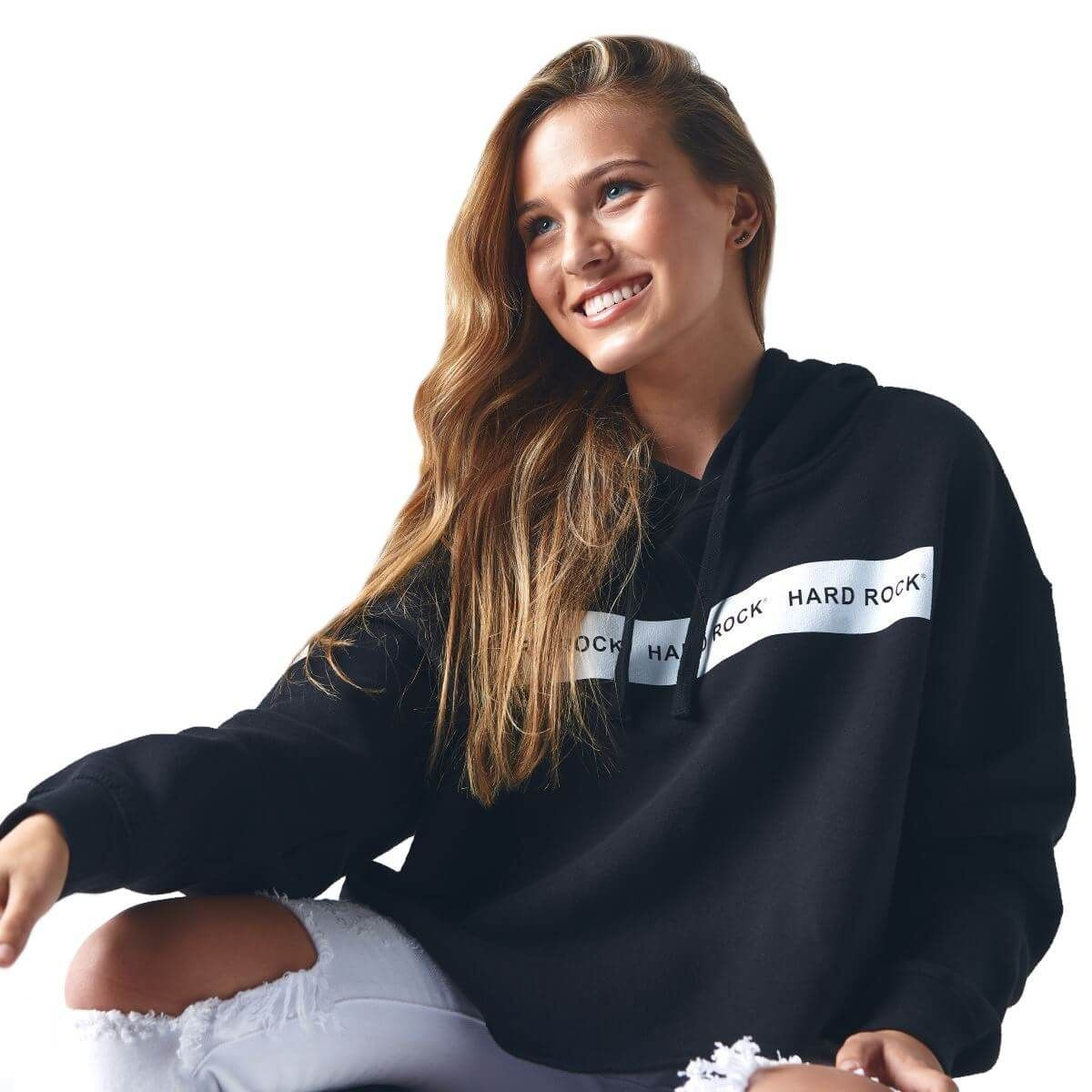 Women's Active Cropped Fleece Hoodie