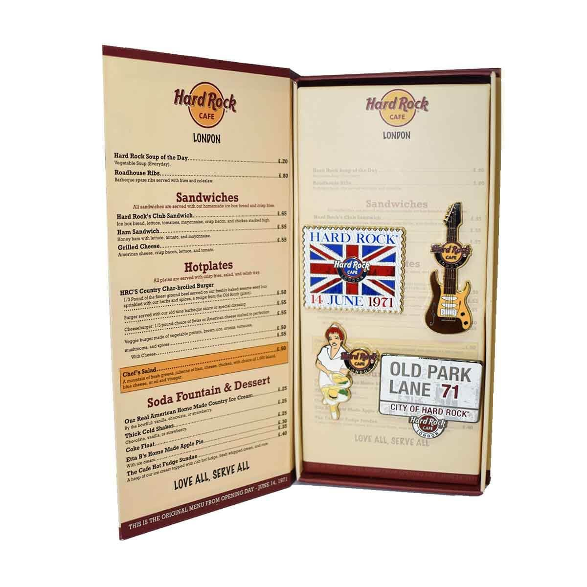 London Menu Pin Box Set 2019