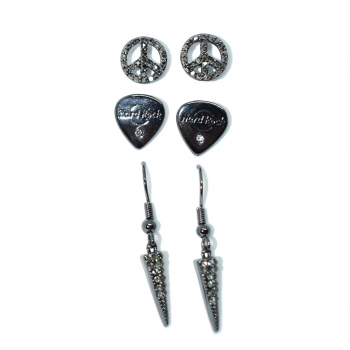 Peace Guitar Pick Trio Earrings