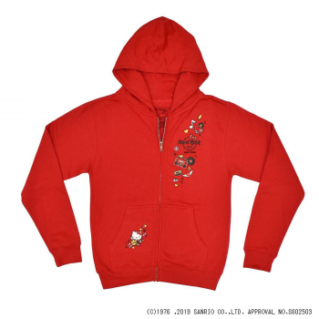 Girl's Hello Kitty Zip-Up Hoodie