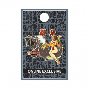 Twisted Circus Elephant & Girl Pin