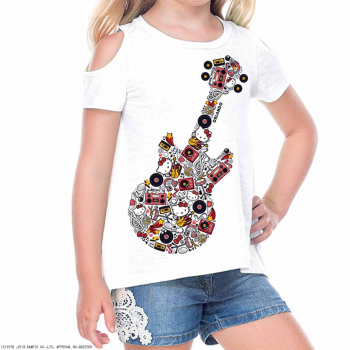 Girl's Hello Kitty Guitar Icon Tee