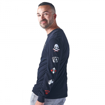 Men's Casino Gaming Icons Long Sleeve Tee