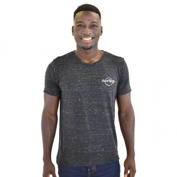 Men's Heather Silver Logo Gunmetal Grey Tee