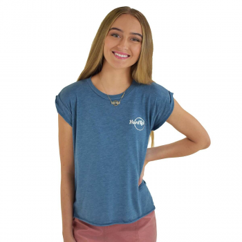 Women's Blue High-Low Tee