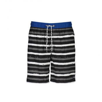 Men's Grey Striped Board Shorts