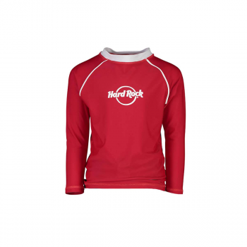 Kid's Unisex Red Long Sleeve Rashguard