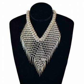 Chainmail Spike Necklace