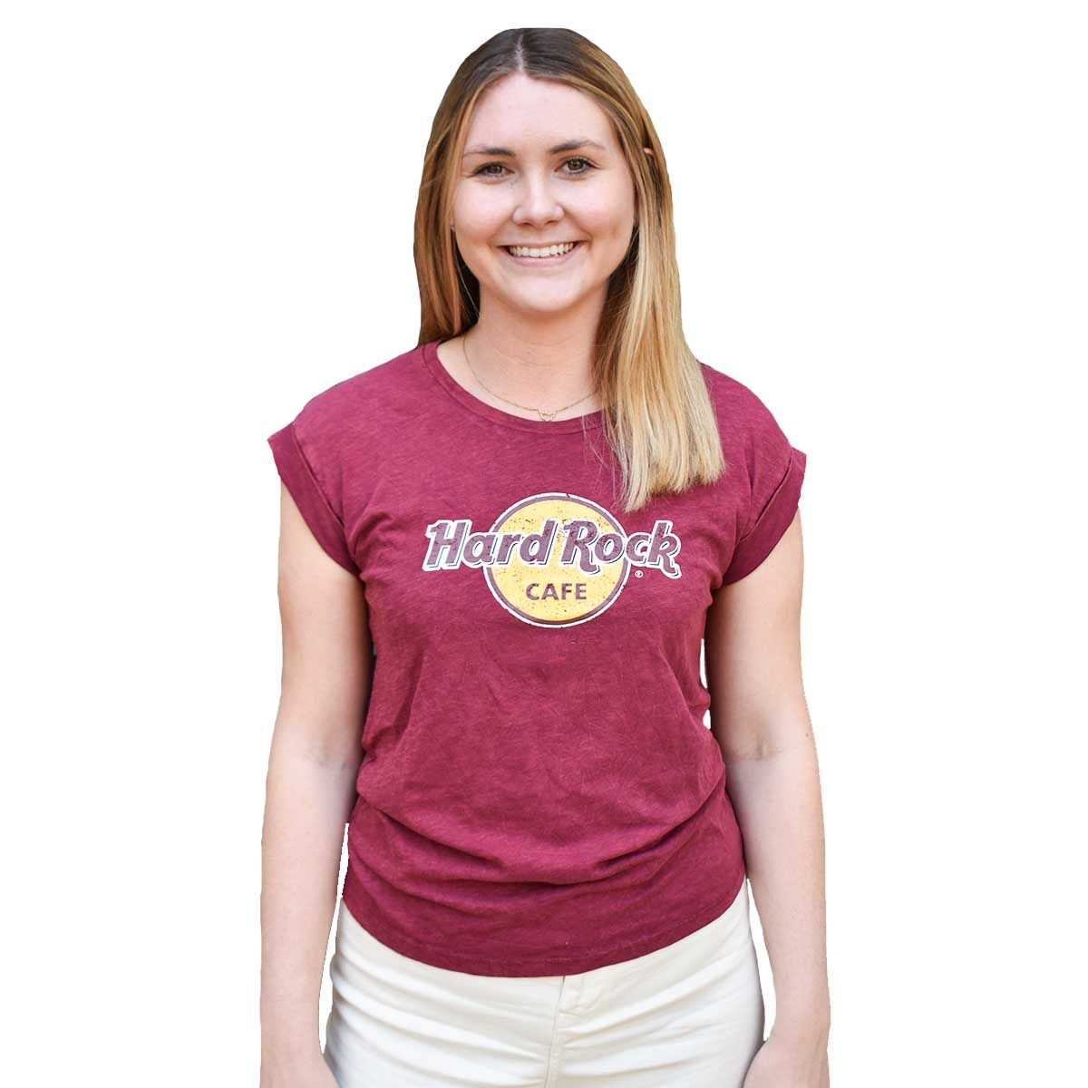Women's Boyfriend Tee Burgundy