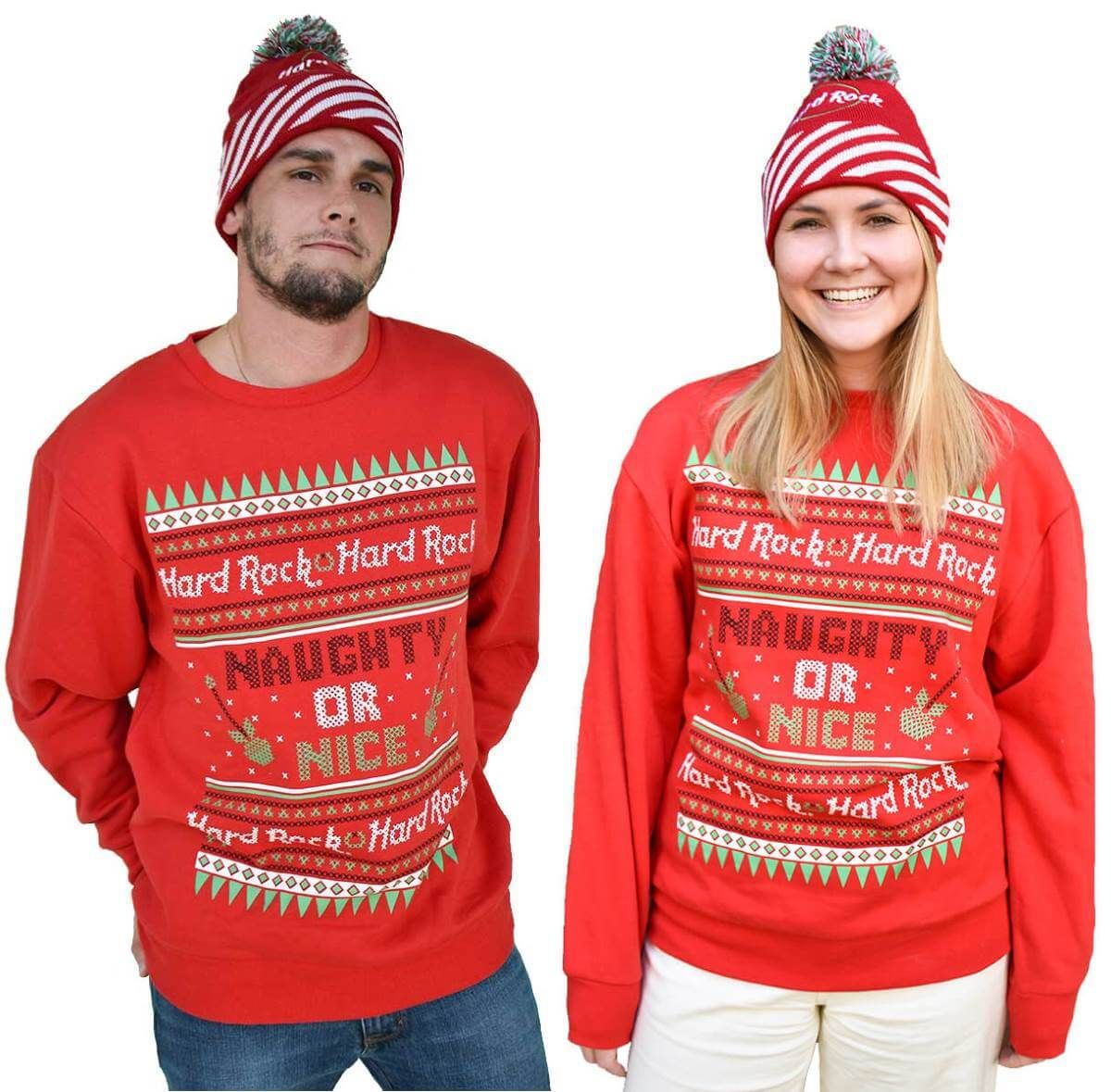 Unisex Holiday Sweatshirt Naughty or Nice